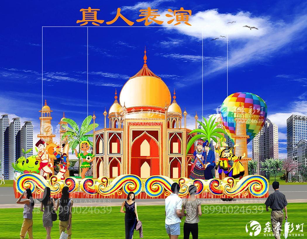 東南亞風情玻璃鋼花車設計