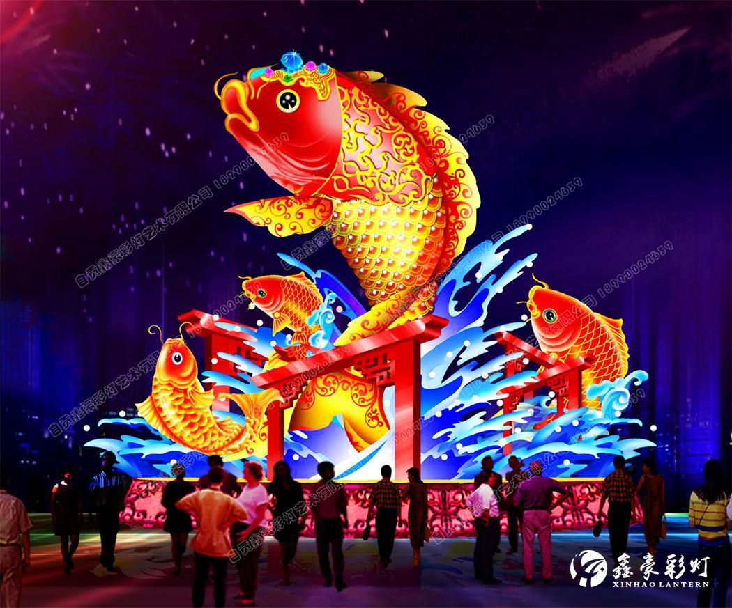 春節花燈設計_鯉魚躍龍門