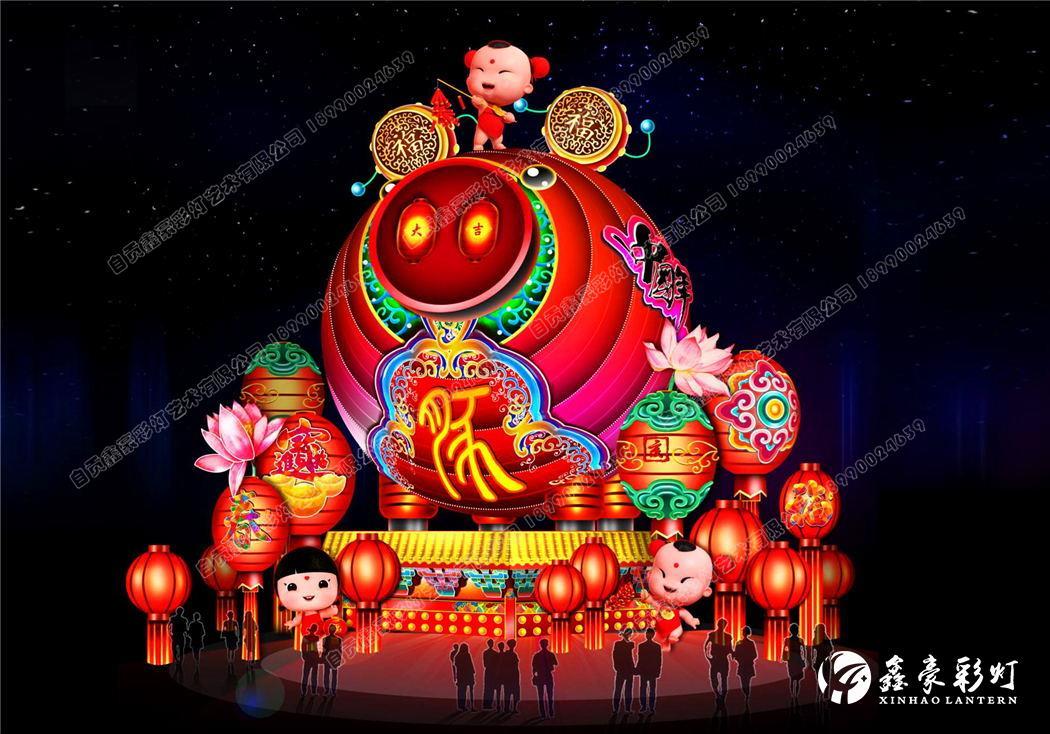 春節彩燈設計——中國年